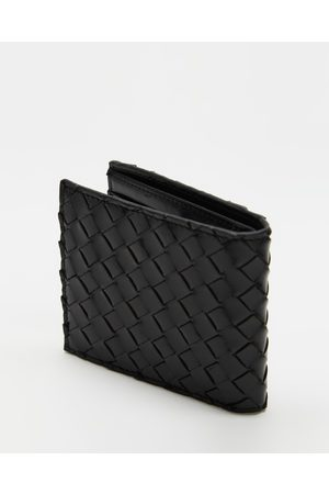 AERE Woven Leather Bifold Wallet - Wallets Woven Leather Bifold Wallet