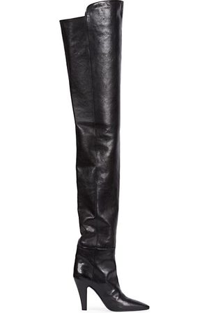 Saint Laurent Betty Over-The-Knee Leather Boots