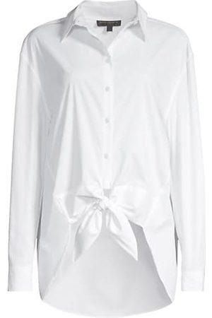 Donna Karan New York Women Shirts - Front Tie Button Down Shirt