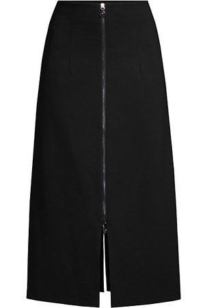 Donna Karan New York Zip Midi-Skirt