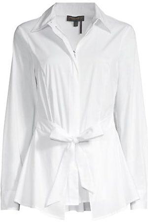 Donna Karan Tie Front Blouse