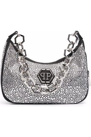 Philipp Plein Women Shoulder Bags - Crystal-embellished shoulder bag