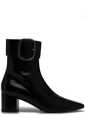 Saint Laurent Joplin 50mm buckle detail boots