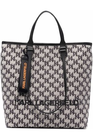 Karl Lagerfeld Jacquard-monogram tote bag