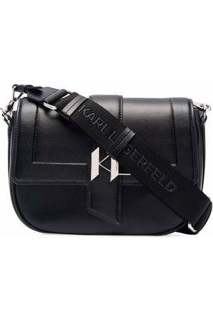 Karl Lagerfeld Medium K/Saddle leather bag