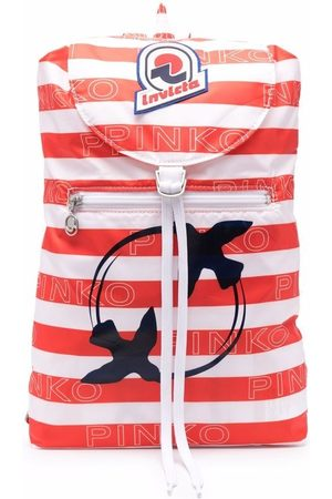 Pinko Packable striped backpack