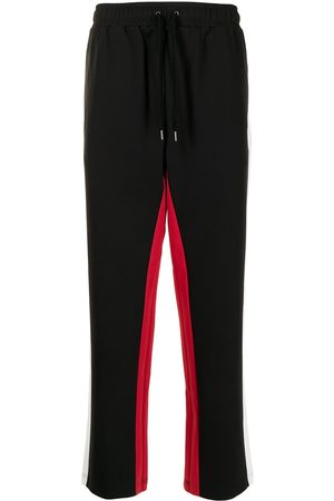 Ports V Joggers - Side-stripe straight trousers