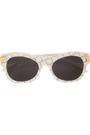 Bottega Veneta Intrecciato square-frame sunglasses