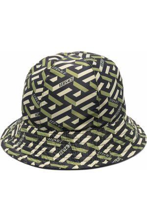 VERSACE Hats - Logo geometric bucket hat