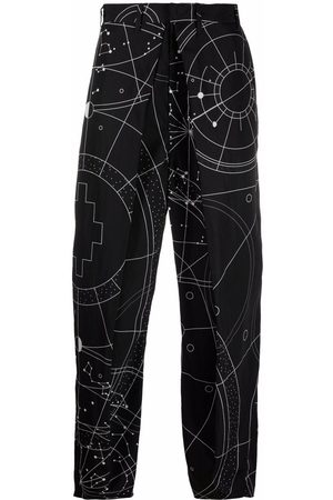 MARCELO BURLON All over Astral pleated chinos