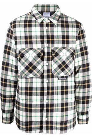 MARCELO BURLON Logo patch plaid shirt