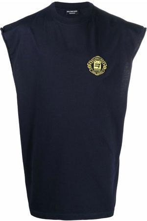 Balenciaga Men Tank Tops - Quest sleeveless cotton t-shirt