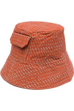 ALLY CAPELLINO Hats - Embroidered-logo pocket bucket hat
