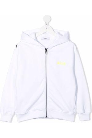 Msgm Logo-print zip-up hoodie