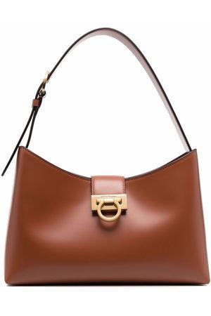 Salvatore Ferragamo Trifolio leather shoulder bag