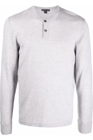 James Perse Men Sweatshirts - Crew-neck cashmere knitted top