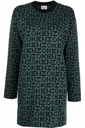 Kenzo Monogram-print sweater dress