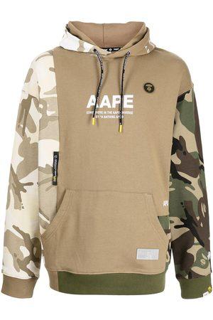 AAPE BY *A BATHING APE® Camouflage-print logo hoodie
