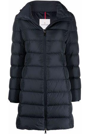 Moncler Women Parkas - Zipped padded parka coat