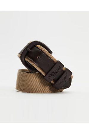 R.M.Williams Men Belts - Drover Canvas Belt - Belts (Tan & ) Drover Canvas Belt