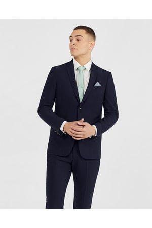 Tarocash Men Blazers - Lance Skinny Stretch Suit Jacket - Suits & Blazers (MIDNIGHT) Lance Skinny Stretch Suit Jacket