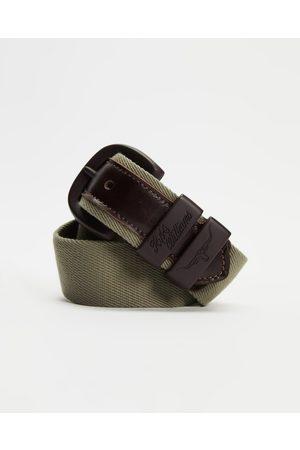 R.M.Williams Drover Canvas Belt - Belts (Khaki & ) Drover Canvas Belt
