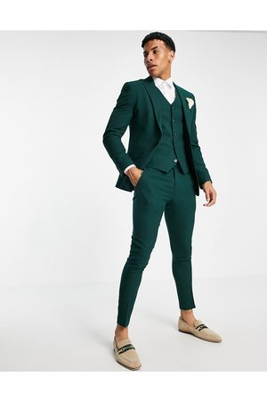 ASOS DESIGN Wedding super skinny suit pants in micro texture