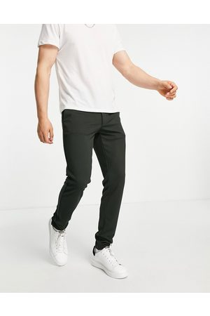 Only & Sons Slim fit jersey pants in green