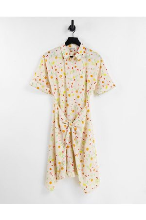 Whistles Dolly fruit print tie dress in multi-White