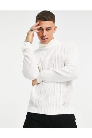Another Influence Mountain pattern roll-neck jumper in