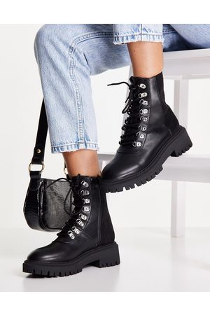 London Rebel Chunky hiker boots in