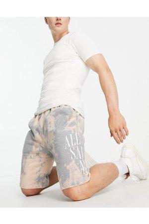 AllSaints Merger tie dye shorts in