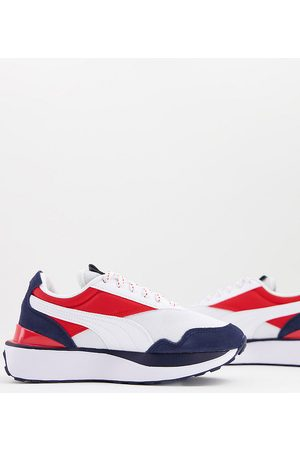 Puma Cruise Rider repeat cat trainers in white red and blue Exclusive to ASOS