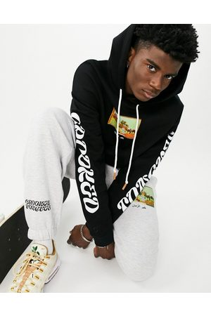 Crooked Tongues Co-ord hoodie with scenic picture print in