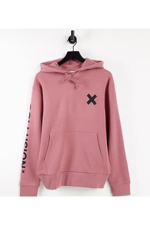 Collusion Unisex organic cotton logo hoodie in dusty