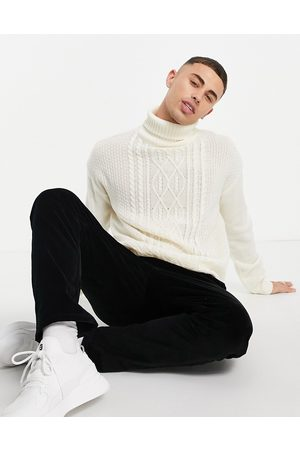 Another Influence Funnel-neck jumper in -White
