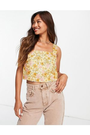 Other Stories & square neck co-ord top in retro -Multi