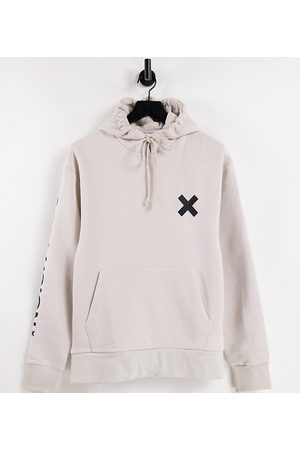 Collusion Unisex logo hoodie in off-white