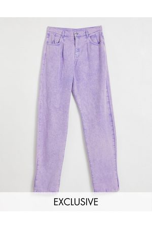Reclaimed Vintage Inspired 83 unisex relaxed fit jean in -Purple