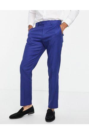 ASOS DESIGN Wedding slim suit pants in cotton linen