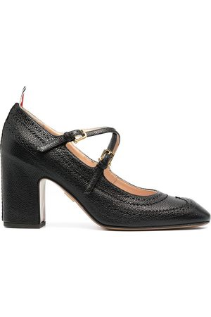 Thom Browne Cross-strap detail brogued mary-jane pumps