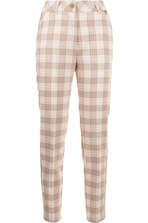 TWINSET Check-print cropped trousers