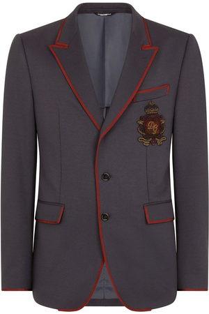 Dolce & Gabbana Virgin wool-blend patch-detail blazer