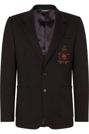 Dolce & Gabbana Men Blazers - Appliqué virgin wool-blend blazer