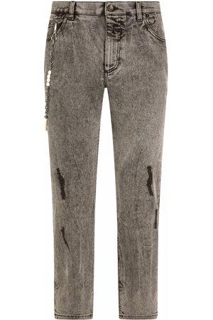 Dolce & Gabbana Logo-plaque straight jeans