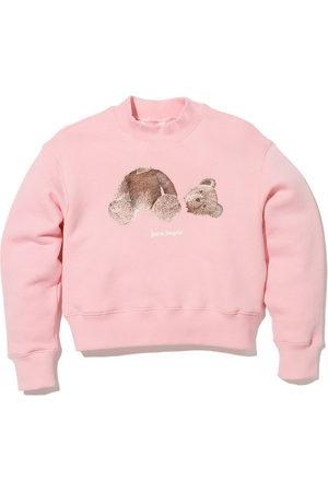 Palm Angels Girls Sweatshirts - Teddy print sweatshirt