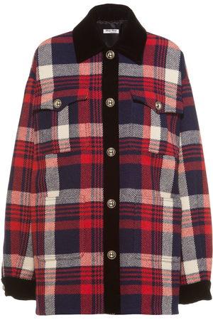 Miu Miu Plaid wool shirt jacket