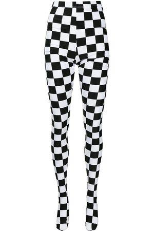 Comme Des Garçons Checkered high-rise tights