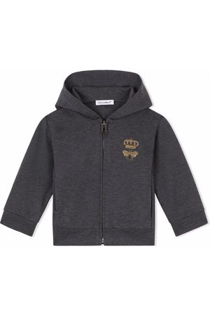 Dolce & Gabbana Bee-embroidered zipped hoodie