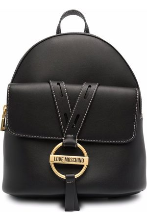 Love Moschino Logo plaque faux-leather backpack